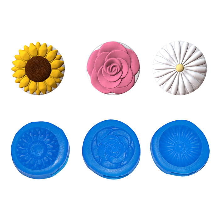 Mini Flowers Cupcake Topper Set