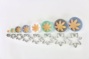 7-Petal Modern Flower Cutter Set of 8
