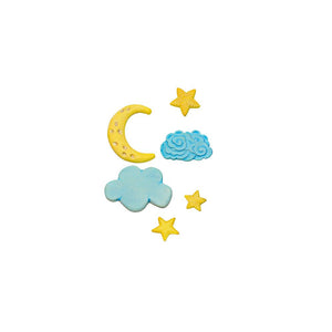Moon, Stars, & Clouds