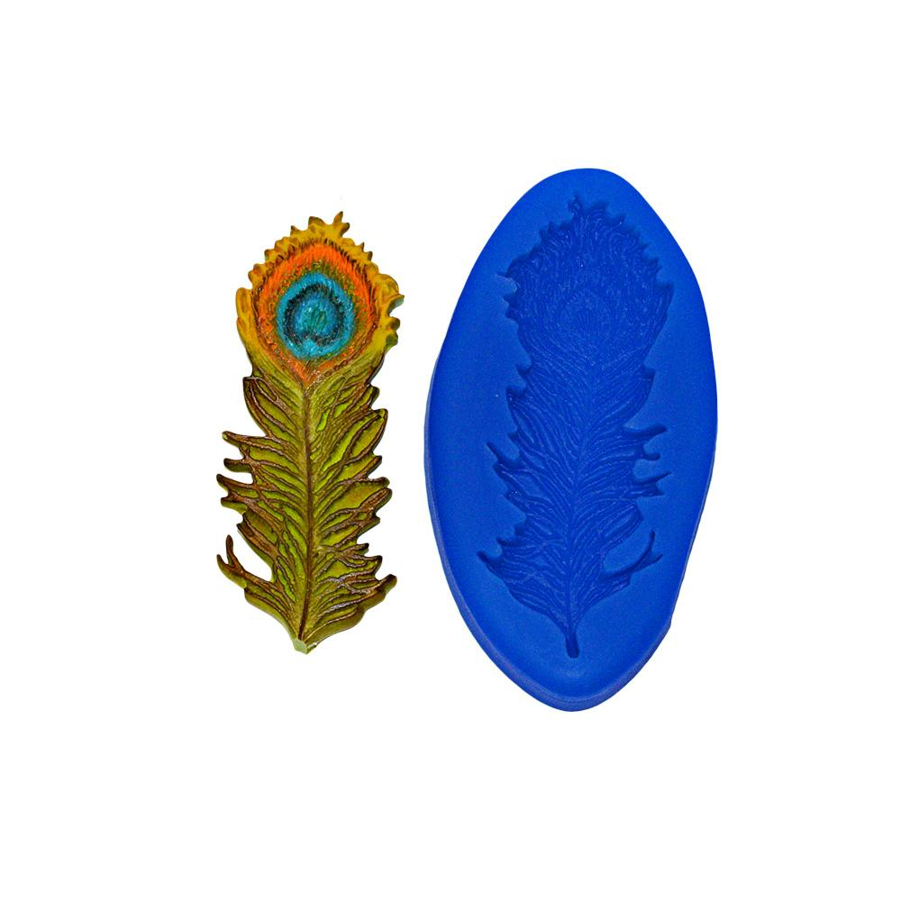Silicone Moulds MN232 FIRST IMPRESSIONS MOLDS Peacock Feather