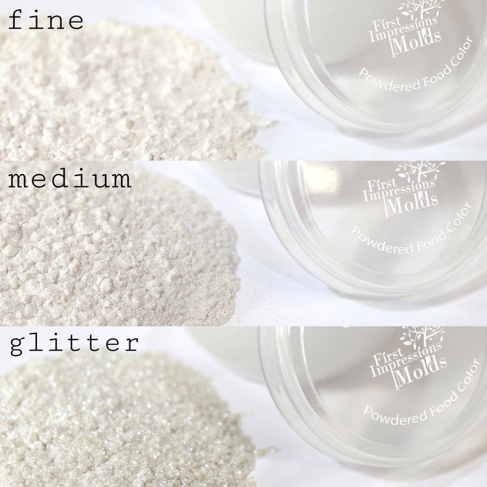 Pearl Luster Dust Set Of 3 Fine, Medium, Glitter