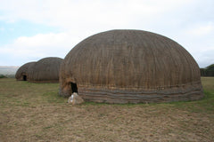 King Cetshwayo's partially restored oNdini homestead.