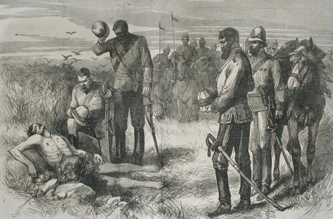 Finding the body of the Prince Imperial, 2 June 1879
