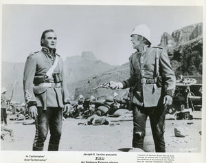 Black & White Photo Press Still from 'ZULU' - Chard and Bromhead