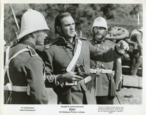 Black & White Photo Press Still from 'ZULU' - Chard Issuing Orders