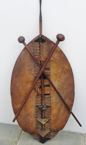 VERY RARE 1879 ZULU WAR SHIELD AND KNOBKERRY TROPHY