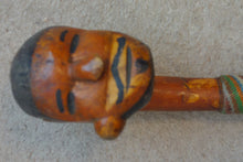 INTERESTING 20th C ZULU KNOBKERRY WITH FIGURATIVE HEAD