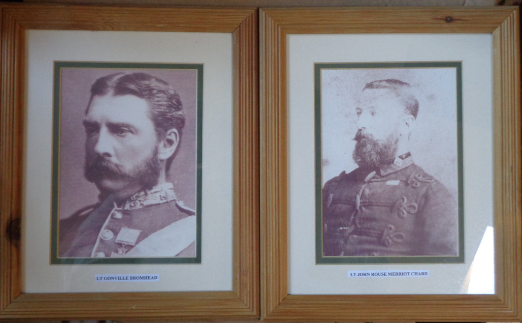 TWO MODERN FRAMED PORTRAITS OF CHARD AND BROMHEAD