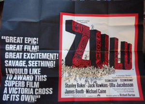 Zulu Original Film Poster - 1972 Re-Release