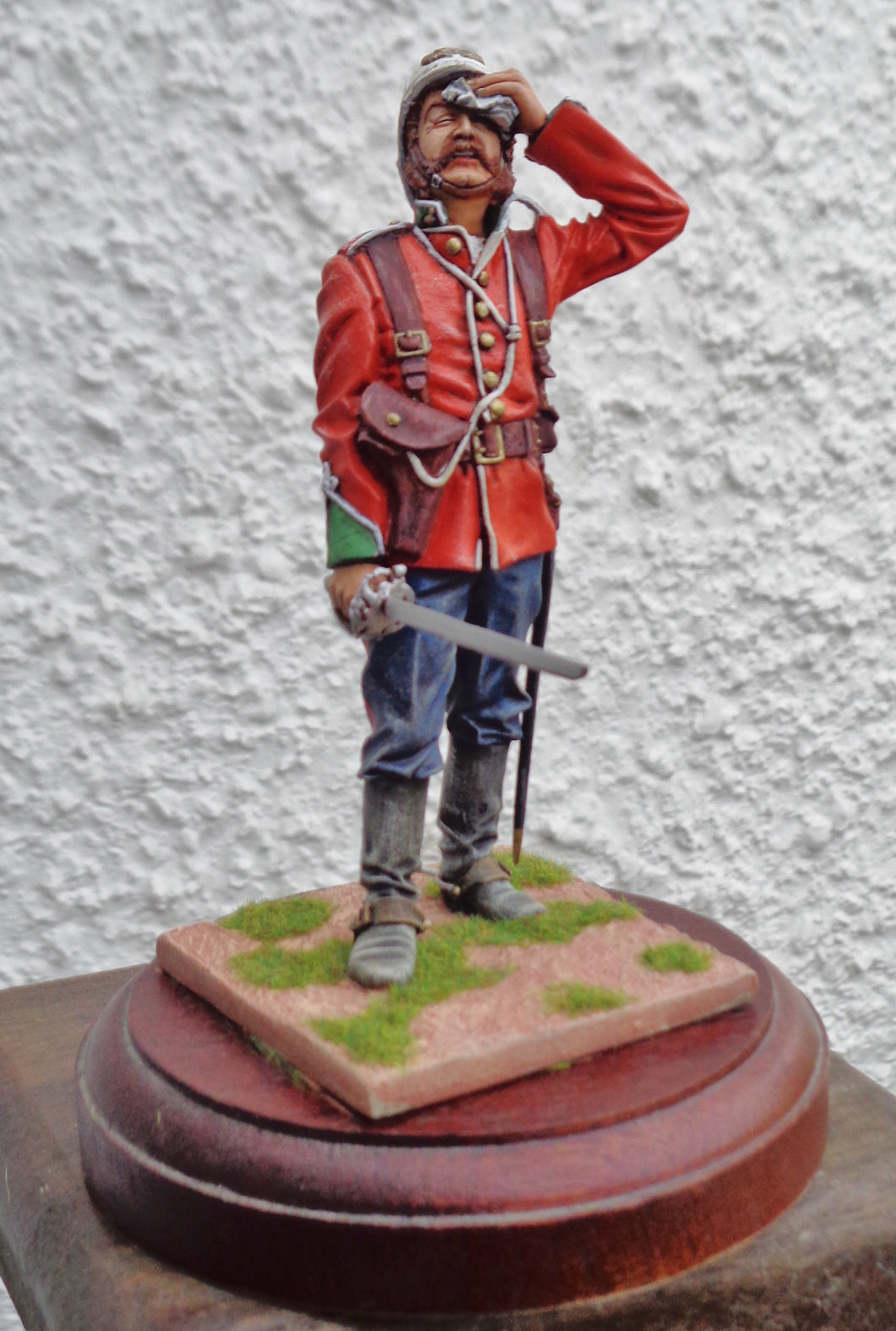 120mm PAINTED MODEL OFFICER 24th REGIMENT
