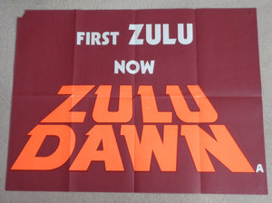 UNUSUAL BRITISH QUAD POSTER 'ZULU DAWN'