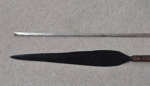 VERY IMPRESSIVE ZULU STABBING SPEAR, IKLWA