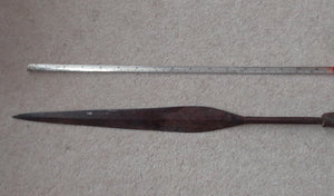LARGE ZULU THROWING SPEAR, ISIJULA