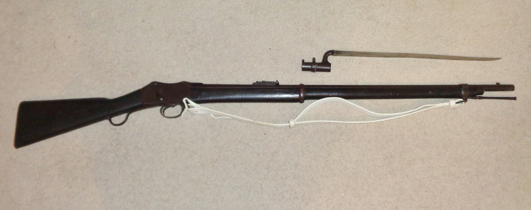 MARTINI-HENRY MARK II 1878 RIFLE AND BAYONET