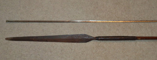 A VERY FINE 19TH CENTURY ZULU STABBING SPEAR, IKLWA