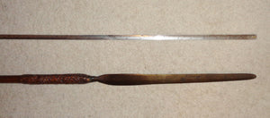 A GOOD 19TH CENTURY ZULU STABBING SPEAR, NTLEKWANE