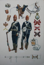 Original Artwork By Rick Scollins Depicting Uniforms of the 17th Lancers, Anglo-Zulu War 1879