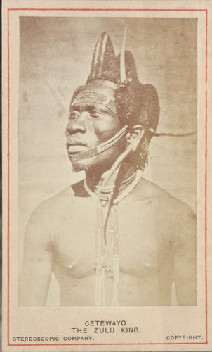 Original Photograph of a Zulu Man - Mistakenly Captioned as King Cetewayo