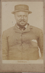 Original Photograph of Zulu King Cetshwayo kaMpande Taken During Captivity in Cape Town