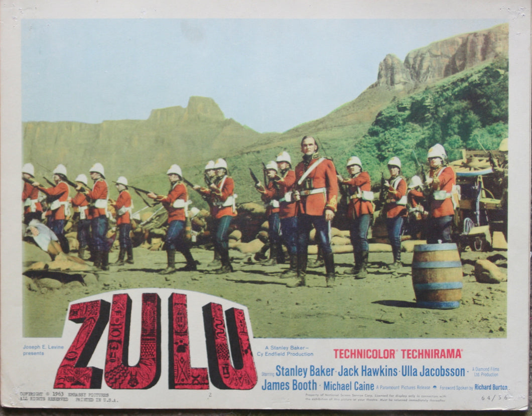 1964 Movie 'ZULU' - Individual U.S. Lobby Card - First Cinema Release!
