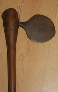 Spectacular 19th Century Zulu Ceremonial Axe with Unusual Round Blade