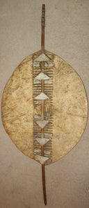 LARGE EARLY 20TH CENTURY ZULU OR SWAZI SHIELD