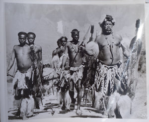 ZULU Movie Still - Featuring a very rare image depicting Zulu warriors