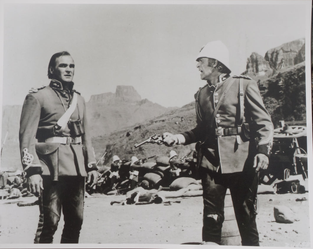 ZULU Movie Still - Michael Caine and Stanley Baker