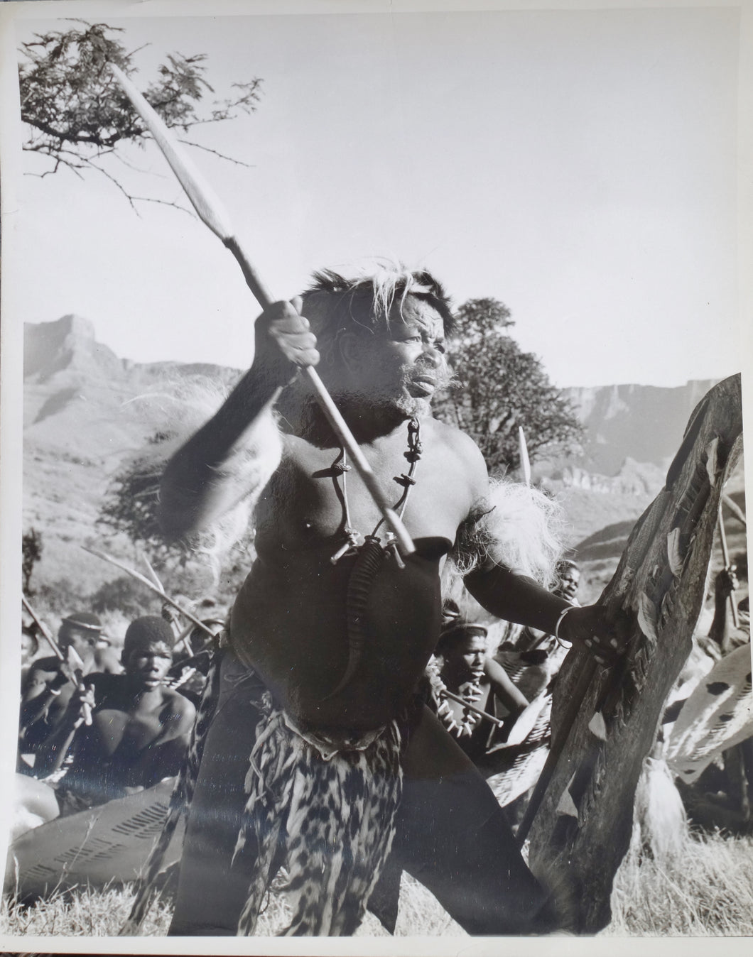 ZULU Movie Still - A very rare and striking image of a Zulu induna