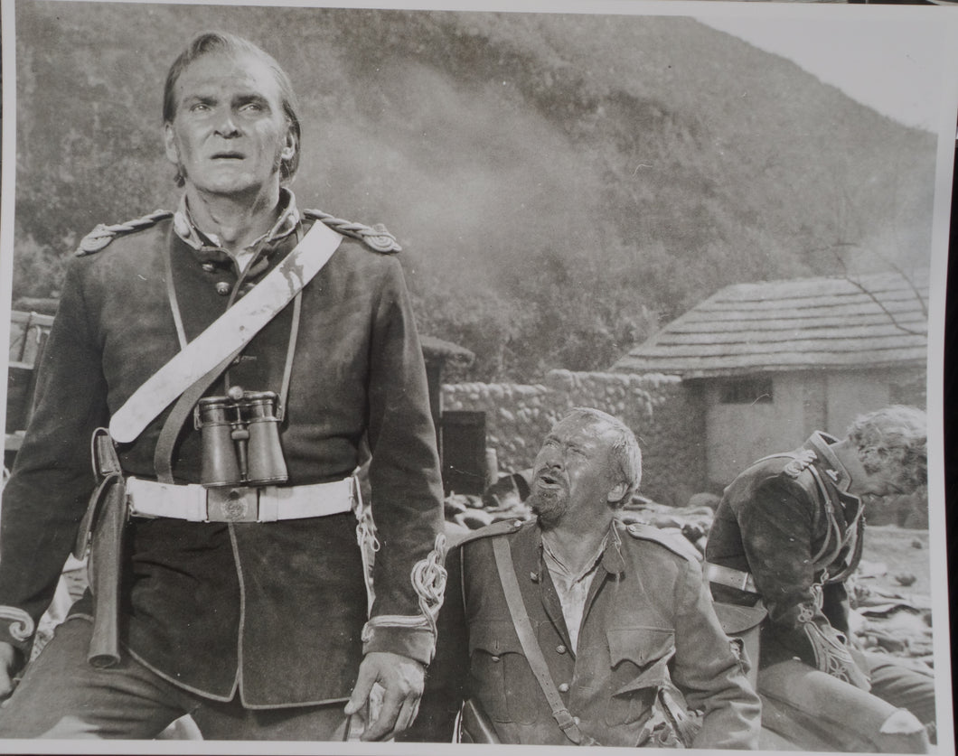 ZULU Movie Still - Stanley Baker, Gert van den Bergh and Michael Caine