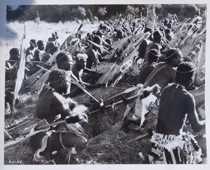 ZULU Movie Still - Rare scene featuring Zulu warriors