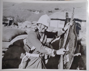 ZULU Movie Still - Featuring Stanley Baker as Lieutenant Chard in action