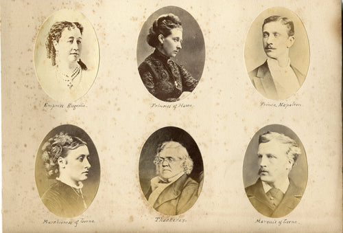 PAGE OF VICTORIAN PHOTOGRAPHS INCLUDING THE PRINCE IMPERIAL