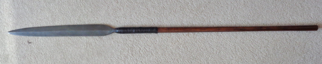 A Very Good 19th Century Zulu Stabbing Spear, Iklwa - 38 Inches Long
