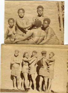 TWO 1870s ALBUMEN PHOTOS OF ZULU LADIES