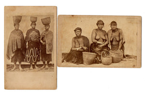 Two CDV Photographs - Wives of Xhosa King Sandile