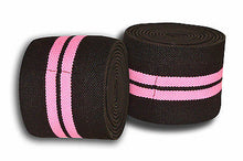 Premium Quality cross fit exercise Heavy Duty Pro Pair knee Wraps BLACK PINK