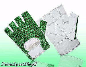 Weigh Lifting Padded Mesh Leather Cycling Wheelchair Gloves W-1041