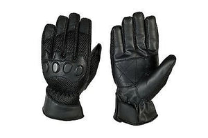 MOTORCYCLE BIKE CYCLING LEATHER MESH GLOVES UM-112