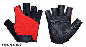 REAL LEATHER PADDED PERFORATE PALM CYCLING GYM TRAINING SPORTS WHEELCHAIR GLOVE
