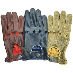 Men's Real Nappa Leather Retro Classic Fashion Driving Gloves