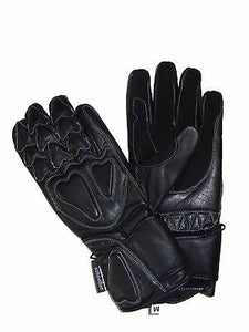 REAL LEATHER MOTORCYCLE RACING KNUCKLE PROTECTION GLOVES