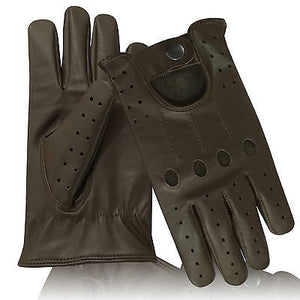 REAL SOFT LAMBSKIN LEATHER  MEN'S TOP QUALITY DRIVING STYLISH FASHION GLOVES