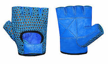 WEIGHT LIFTING MESH LEATHER GYM TRAINING FITNESS DRIVING WHEELCHAIR GLOVE 1025