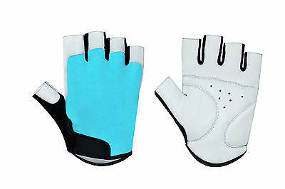 REAL LEATHER PADDED PALM PERFORATE FITNESS GYM TRAINING 4WAY BICYCLE ALL SPORTS