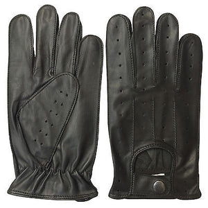 REAL SOFT LEATHER MENS UNLINED FASHION DRIVING GLOVES BLACK BROWN 7011