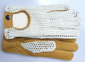 REAL LEATHER CROCHET MEN'S CLASSIC DRIVING  GLOVES D-509