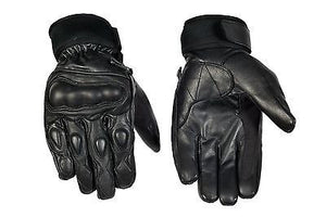 Motorcycle Genuine Leather Knuckle Protection Comfortable Riding Biker Gloves