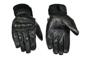 MOTORCYCLE RACING GLOVES KNUCKLE PROTECTION REAL LEATHER MOTORBIKE GLOVES