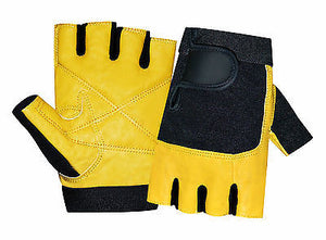 BODY BUILDING GYM SPORTS LEATHER PADDED PALM WEIGHT LIFTING TRAINING GLOVES 1032